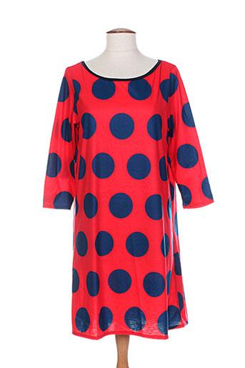 Robe courte rouge DOROTHEE OSSART pour femme