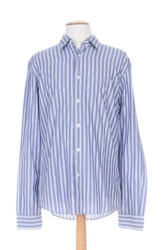 mexx chemises homme de couleur bleu