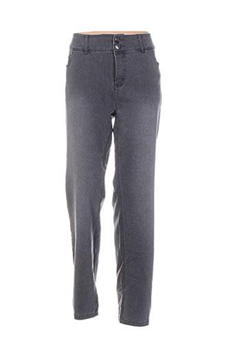 ciso pantalons femme de couleur gris