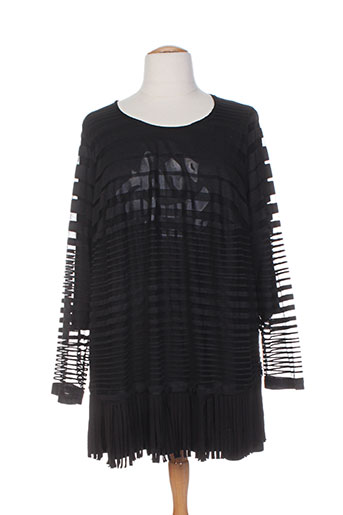 chalou chemises femme de couleur noir
