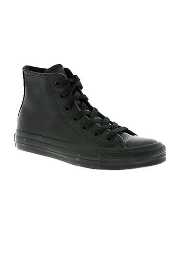 converse chaussures unisexe de couleur noir
