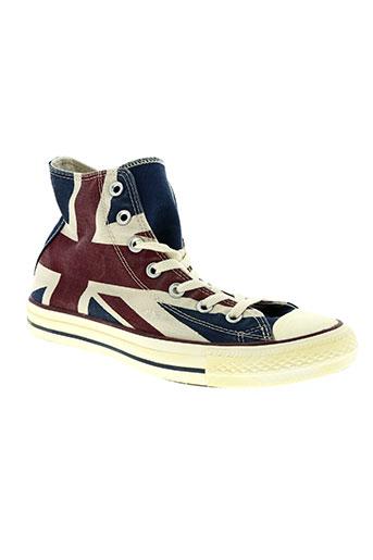 converse chaussures homme de couleur bleu
