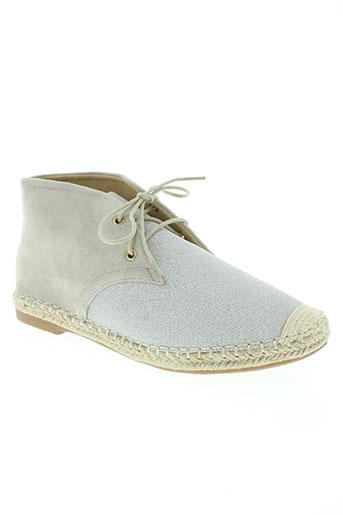 dame rose chaussures femme de couleur gris