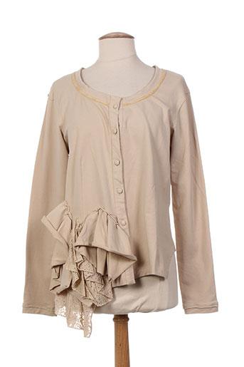 rhum raisin vestes femme de couleur beige