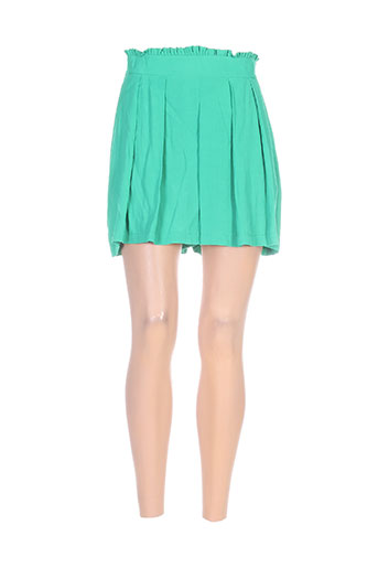 miss miss shorts / bermudas femme de couleur vert