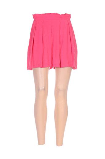 miss miss shorts / bermudas femme de couleur rouge