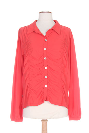 platine collection chemises femme de couleur rouge