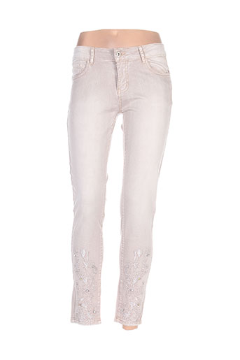 onado jeans femme de couleur beige