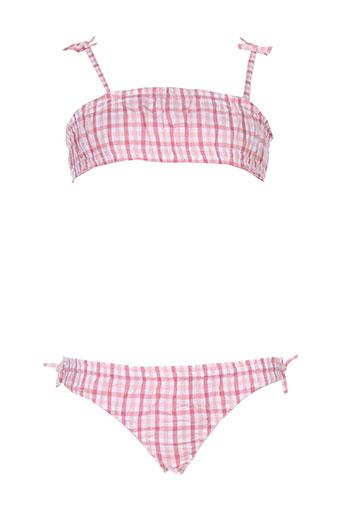 cyrillus maillots de bain fille de couleur rose
