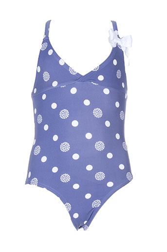 cyrillus maillots de bain fille de couleur bleu