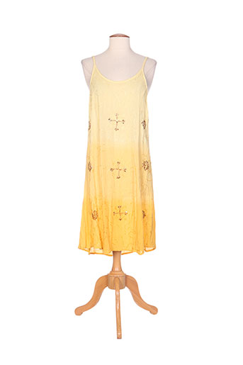 colline robes femme de couleur jaune