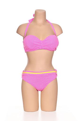 kiwi maillots de bain femme de couleur rose