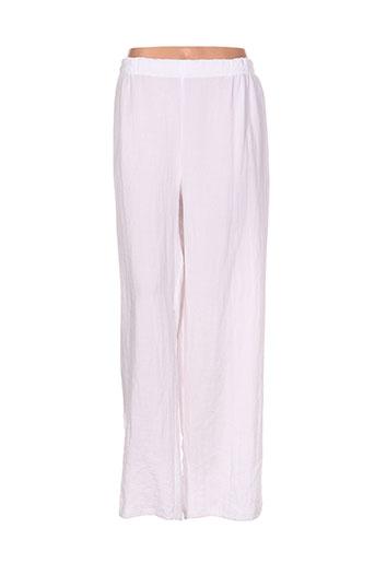 one o one pantalons femme de couleur blanc
