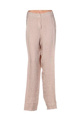 ko.moda pantalons femme de couleur beige