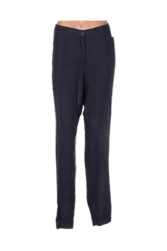 ko.moda pantalons femme de couleur bleu