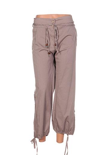 piment rouge pantalons femme de couleur beige