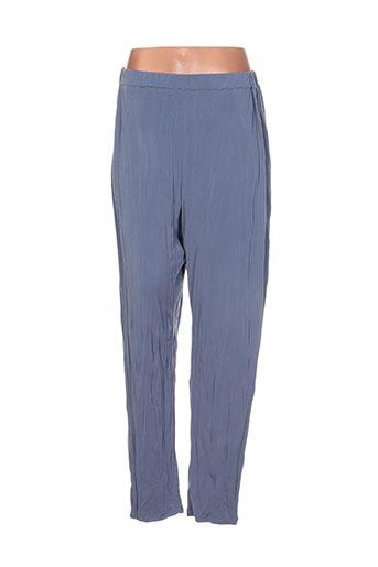 olivier wartowski pantalons femme de couleur bleu