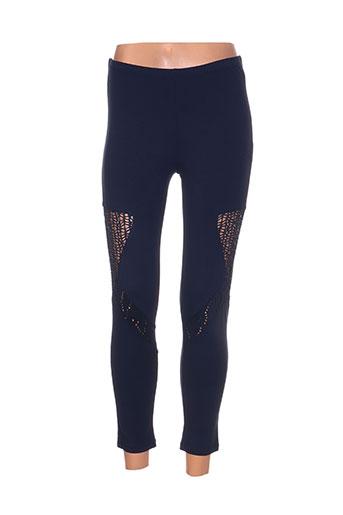 maloka pantalons femme de couleur bleu