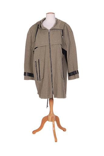 areline manteaux femme de couleur vert