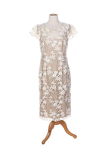 gina b heidemann robes femme de couleur beige
