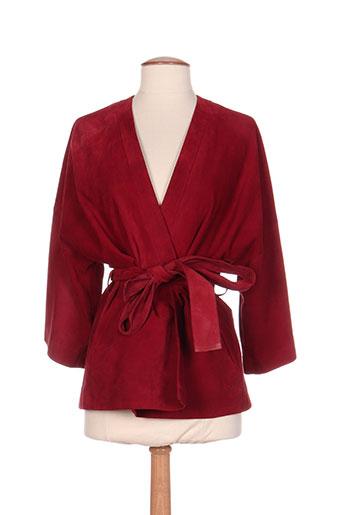 pablo gerard darel vestes femme de couleur rouge