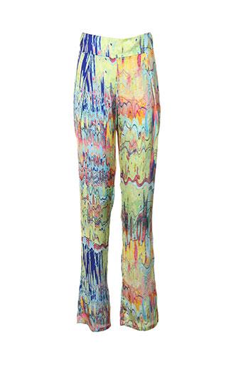 atos lombardini pantalons femme de couleur vert