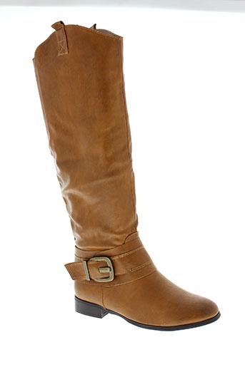 alicia et shoes bottes femme de couleur marron