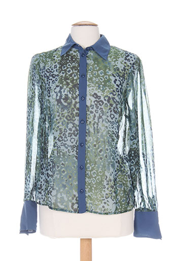 k'tendances chemises femme de couleur bleu