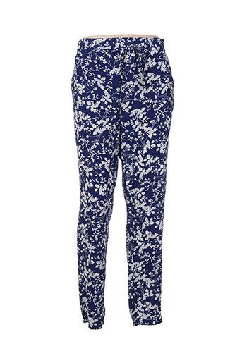 akoz de toi pantalons femme de couleur bleu