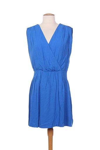 Robe courte bleu COLOR BLOCK pour femme