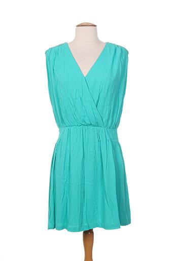 Robe courte vert COLOR BLOCK pour femme