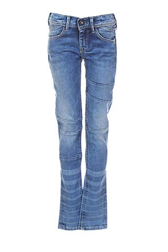 pepe jeans jeans fille de couleur bleu