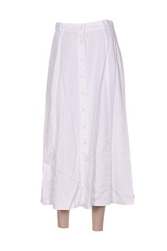 point de suspension jupes femme de couleur blanc