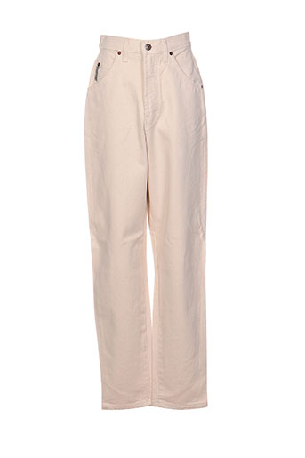 in wear pantalons femme de couleur beige