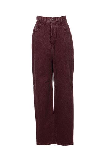 in wear pantalons femme de couleur rouge
