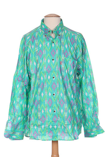 arthur chemises homme de couleur vert