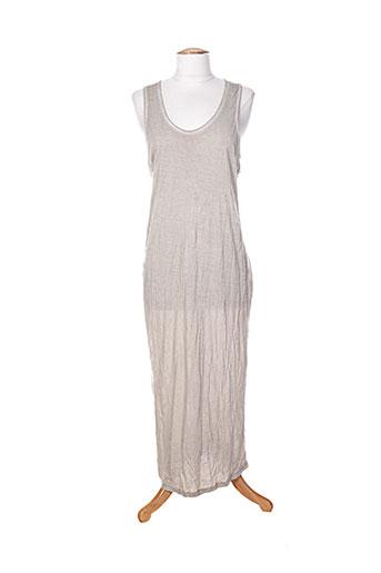 yaya robes femme de couleur beige