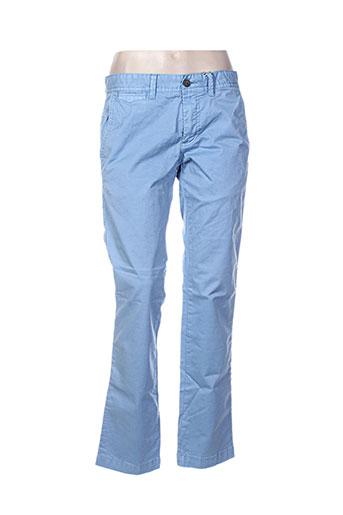 red point pantalons femme de couleur bleu