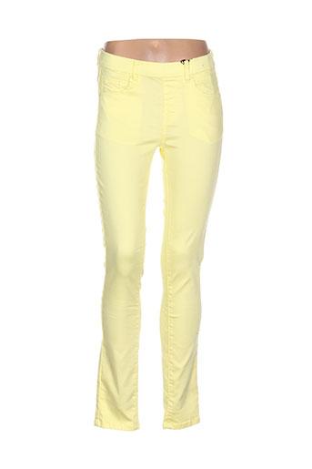 s.quise pantalons femme de couleur jaune