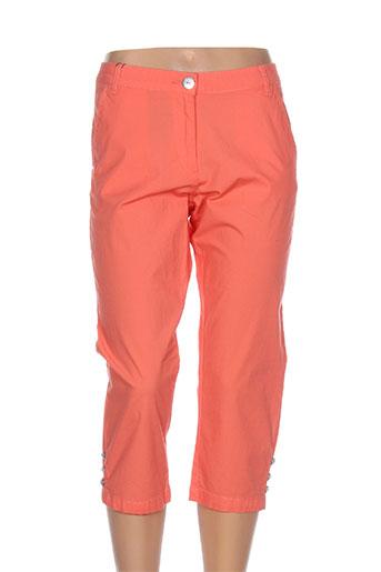 thalassa pantacourts femme de couleur orange