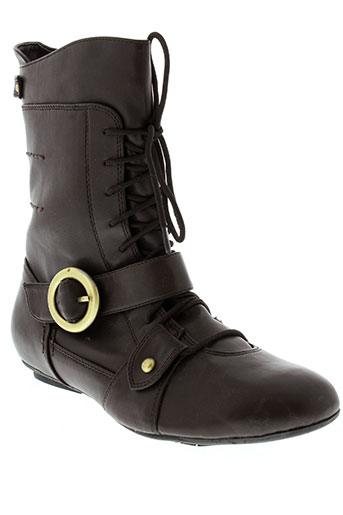 raxmax bottines femme de couleur marron