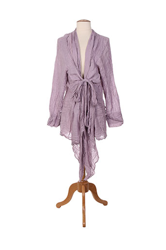 grizas gilets femme de couleur violet