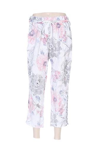 carla giannini pantalons femme de couleur gris