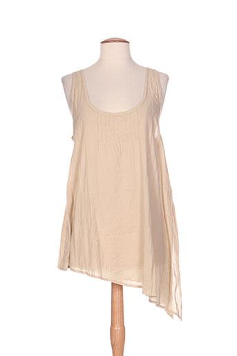 heteroclite chemises femme de couleur beige