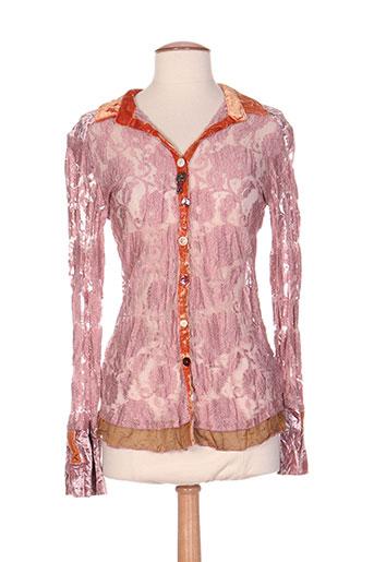 elisa cavaletti chemises femme de couleur rose