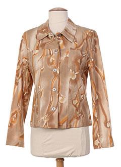 Veste casual marron ANNE D'ALETH pour femme
