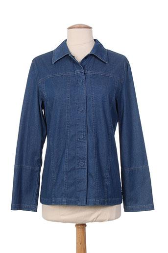 bruno saint hilaire chemises femme de couleur bleu