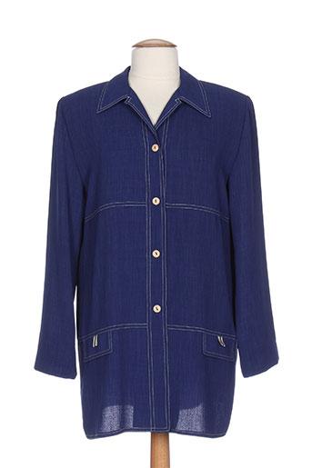 guitard vestes femme de couleur bleu