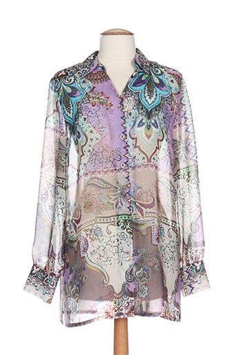 lucia chemises femme de couleur violet