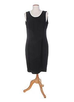 Robe mi-longue noir CLAUDE BAUER pour femme